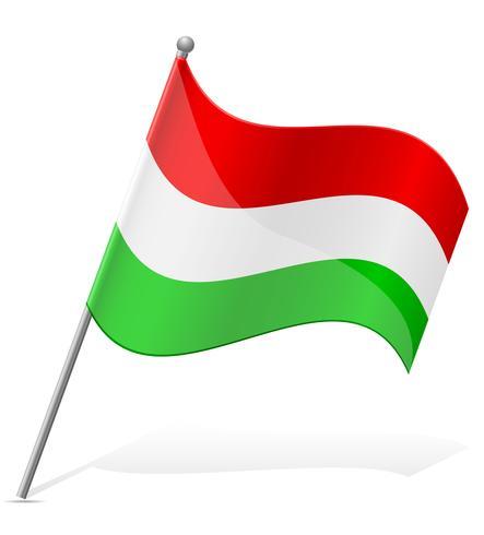 Bandeira da ilustração vetorial de Hungria vetor