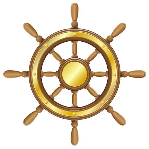 volante para ilustração vetorial de navio vetor