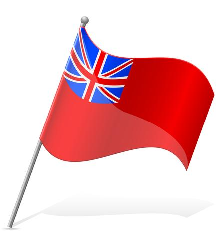 Bandeira de ilustração vetorial de ilha das Bermudas vetor