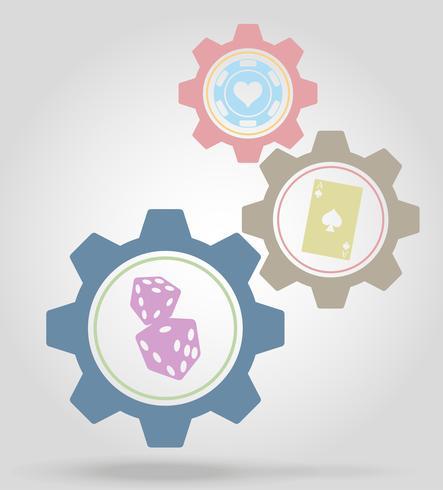 ilustração em vetor cassino mecanismo mecanismo de engrenagem