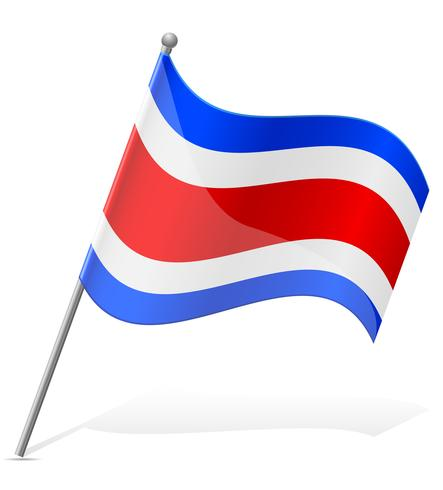 bandeira da ilustração vetorial de Costa Rica vetor