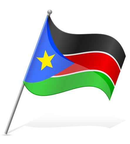 bandeira da ilustração vetorial de Sudão do Sul vetor