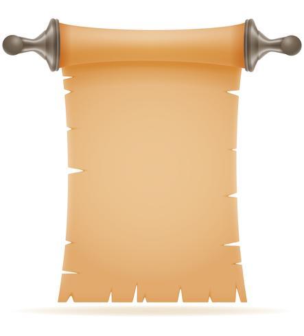 ilustração em vetor antigo papel pergaminho