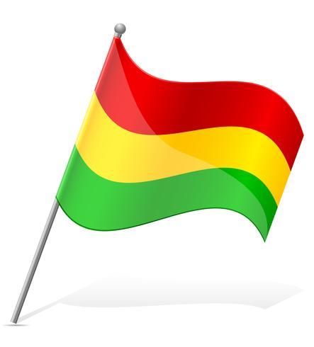 Bandeira da Bolívia Ilustração vetorial vetor