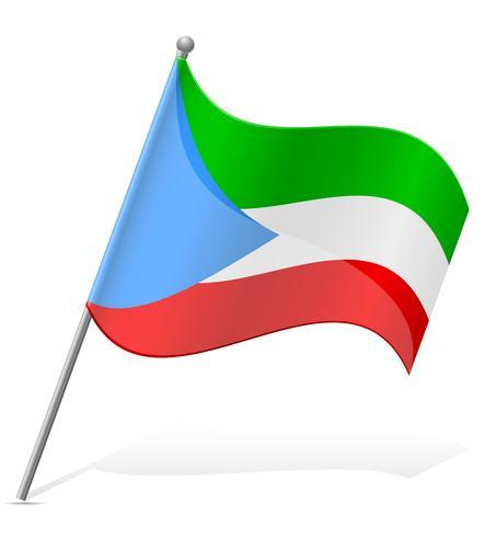 bandeira da Guiné Equatorial Ilustração vetorial vetor