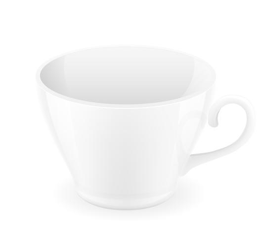 ilustração em vetor xícara porcelana