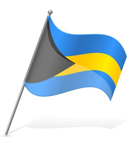 bandeira da ilustração vetorial de Bahamas vetor