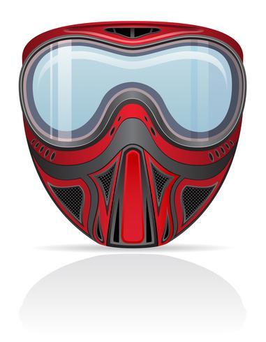 ilustração em vetor paintball máscara