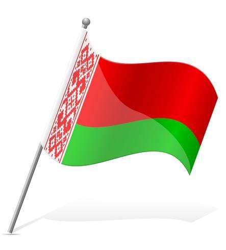 bandeira da ilustração vetorial de Bielorrússia vetor