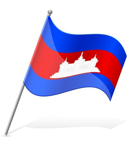 Bandeira da ilustração vetorial de Camboja vetor