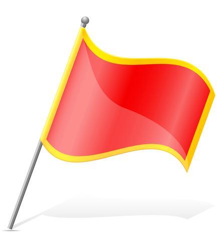 Bandeira da ilustração vetorial de Montenegro vetor