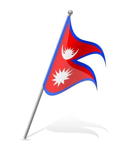 Bandeira da ilustração vetorial de Nepal vetor