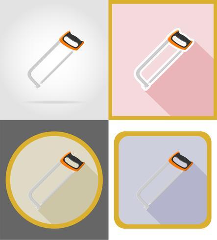 vi reparação e construção de ferramentas ícones planas ilustração vetorial vetor