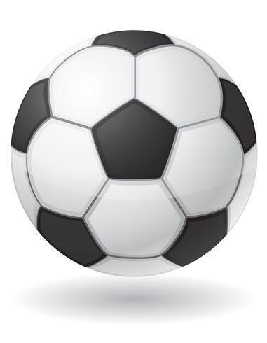 ilustração de vetor de bola de futebol de futebol