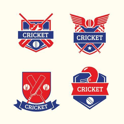 Conjunto de modelos de logotipo de críquete vetor