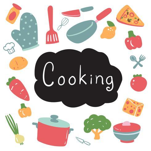 projeto de coleção de vetor de cozinha