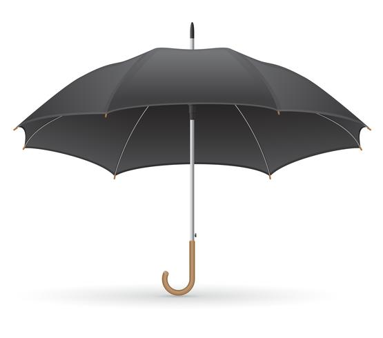 ilustração em vetor guarda-chuva preto