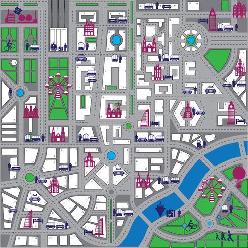 Mapa da cidade vetor