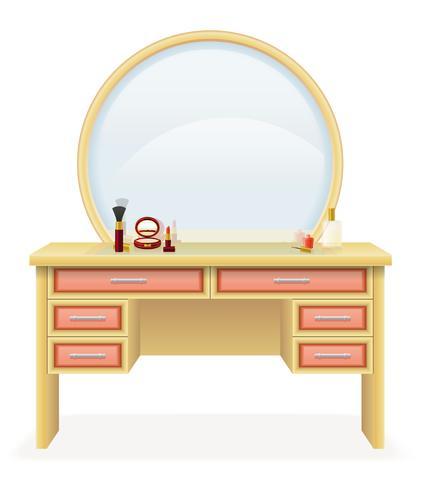 ilustração em vetor mobiliário moderno mesa vaidade