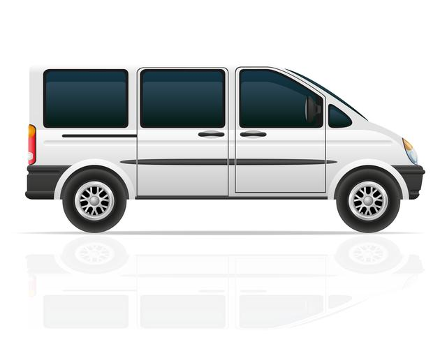 van para o transporte de passageiros ilustração vetorial vetor