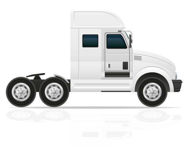trator grande caminhão para ilustração vetorial de carga de transporte vetor