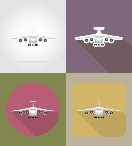 ilustração em vetor ícones plana avião