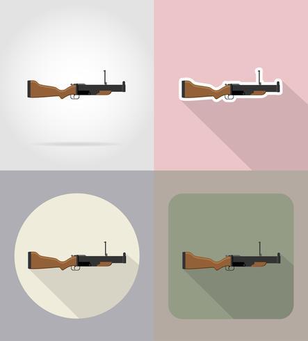 ilustração em vetor ícones modernos armas plana de armas de fogo