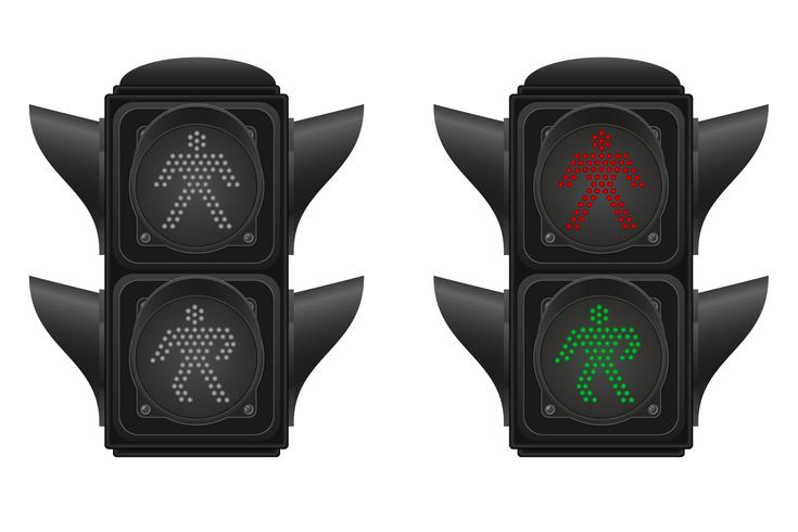semáforo para ilustração vetorial de pedestres vetor