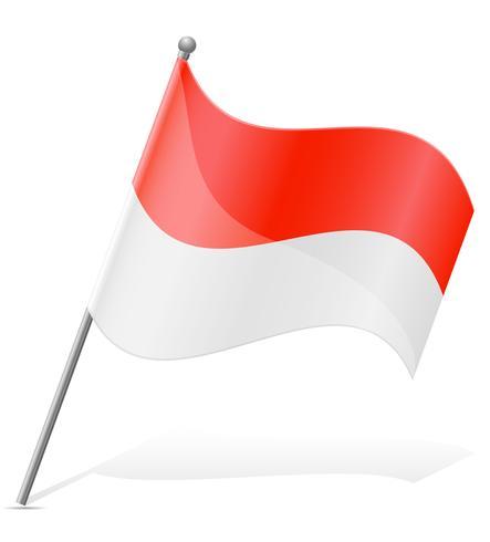 bandeira da ilustração do vetor de Indonésia