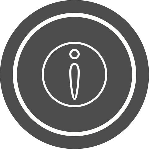 Design de ícone de informações vetor