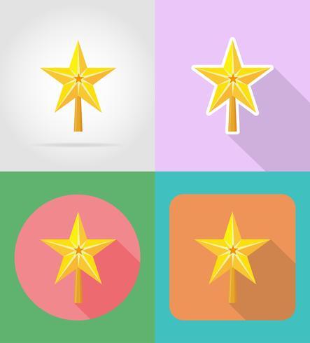 Natal e ano novo ícones planas ilustração vetorial vetor