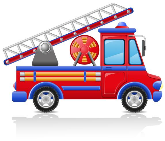 ilustração em vetor caminhão de bombeiros