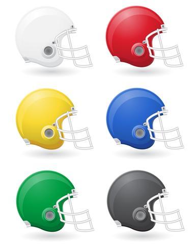 ilustração em vetor de futebol americano helments