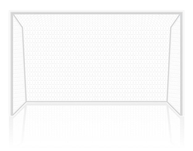 ilustração em vetor goleiro futebol portões de futebol