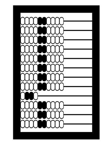 ilustração em vetor estoque vintage velho retrô ábaco ícone