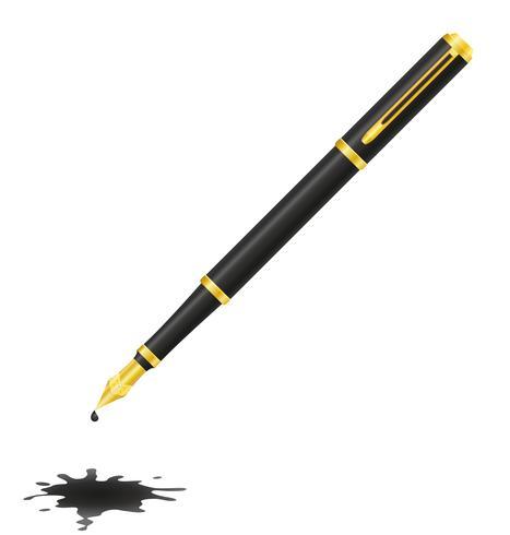 caneta de tinta e ilustração vetorial de borrão vetor