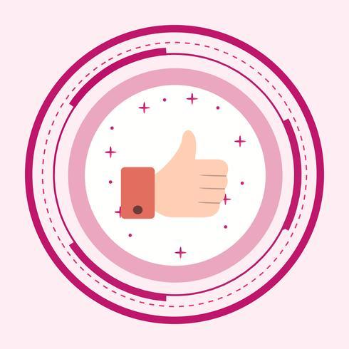 Como ícone de design vetor