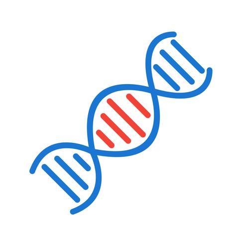 Design de ícone de DNA vetor