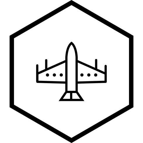 Projeto de ícone de jato de caça vetor