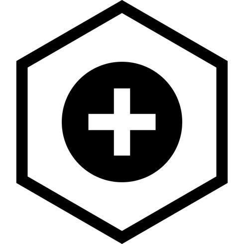 Design de ícone de sinal médico vetor