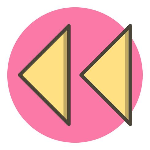 Design de ícone de setas para trás vetor