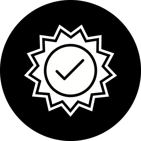 Design de ícone de carimbo válido vetor