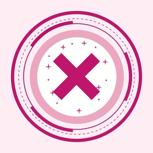 Cancelar o desenho do ícone vetor