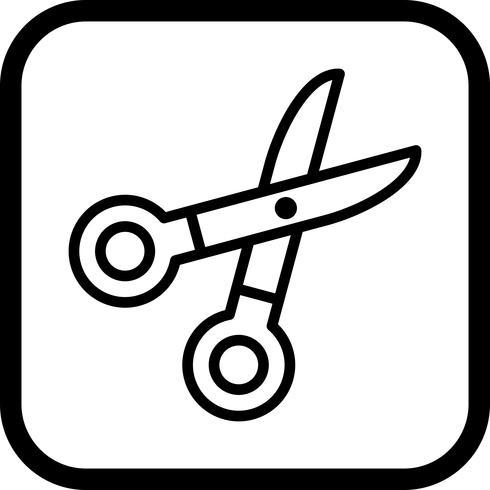 Ícone de tesoura vetor