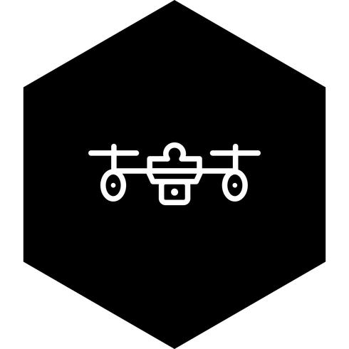 Projeto do ícone do zangão vetor