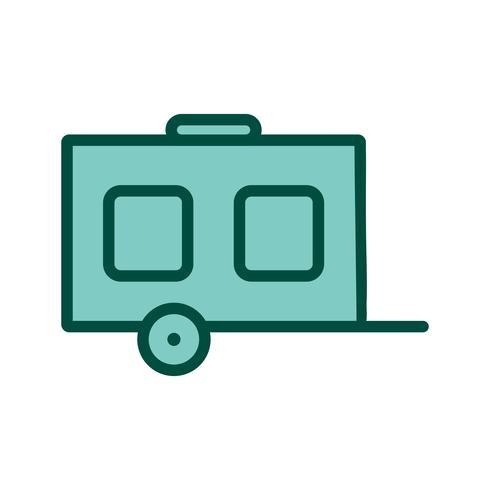 Design de ícone de vagão vetor