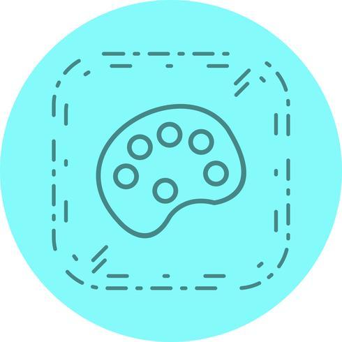 Design de ícone de paleta de cores vetor