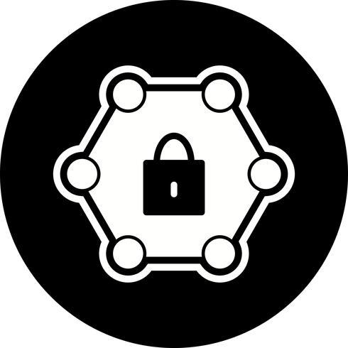 Design de ícone de rede protegida vetor