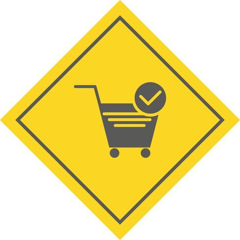 Design de ícone de itens de carrinho verificados vetor