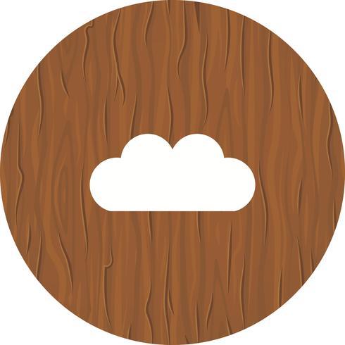Ícone do design de nuvem vetor